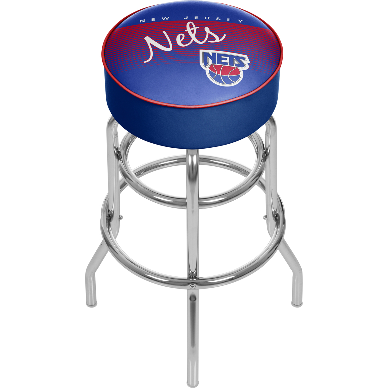New Jersey Nets NBA Hardwood Classics Padded Swivel Bar Stool 30 Inches High