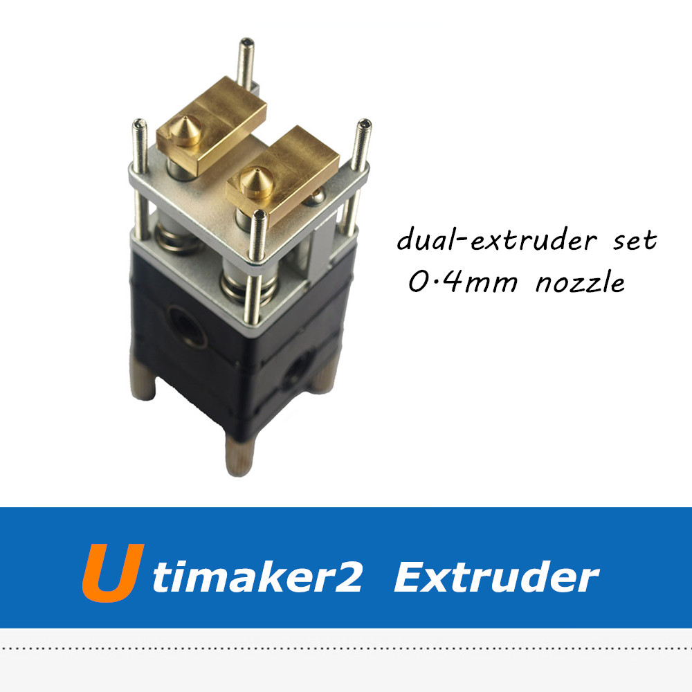 Ultimaker 2 3D Printer Dual Extrusion Kit 2 Nozzles Hot End Pack Ultimaker2 Dual Heads Extruder for 3.0mm 3d printer ultimaker 3 extruder ultimaker 2 extended ultimaker 2 complete extrusion hot end extruder
