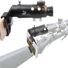 El Sistema Inteligente de Rodaje De Montaje Montaje del Alcance del rifle scope Smartphone Adaptador de Visualizar y Grabar el Descubrimiento a través de Su Teléfono Inteligente