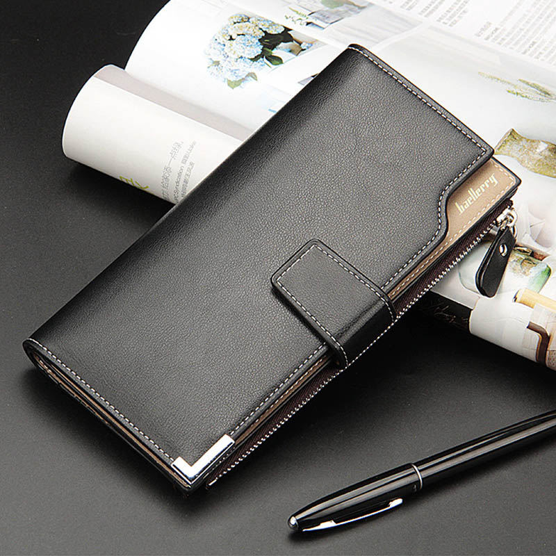 NEW busines Wallet Casual Clutch zipper coin Pocket wallet Clutch purse long wallet portfolio Card Holder Multi-card bit Purse