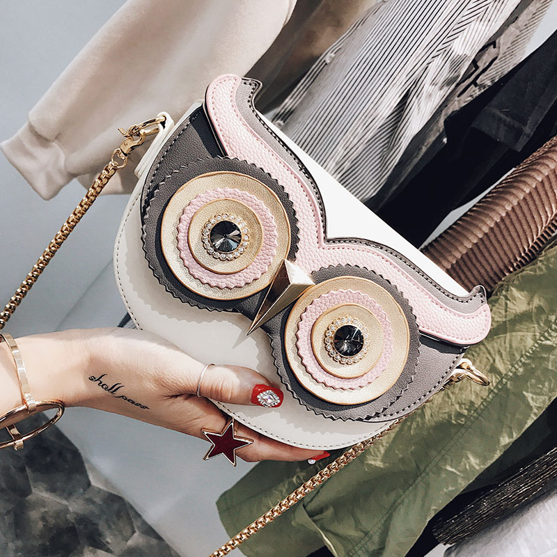 Cute Purse Handbag Owl Women Messenger Bags For Summer Crossbody Shoulder Bag with Belt Strap Lady Clutch Purses Phone 322