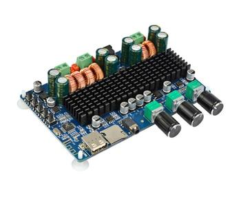 100W DC12~26V Amplifiers Audio Board Amplificador Bluetooth USB TF Decoding 2.1 Channel Digital Amplifier Board