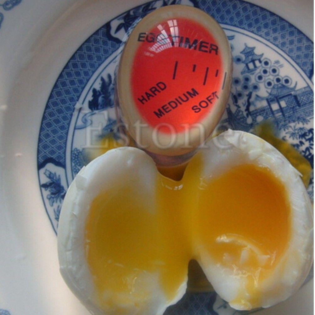 Яйцо идеального цвета таймер с изменяющимся вкусным мягким твердым вареным яйцом для приготовления кухни AU