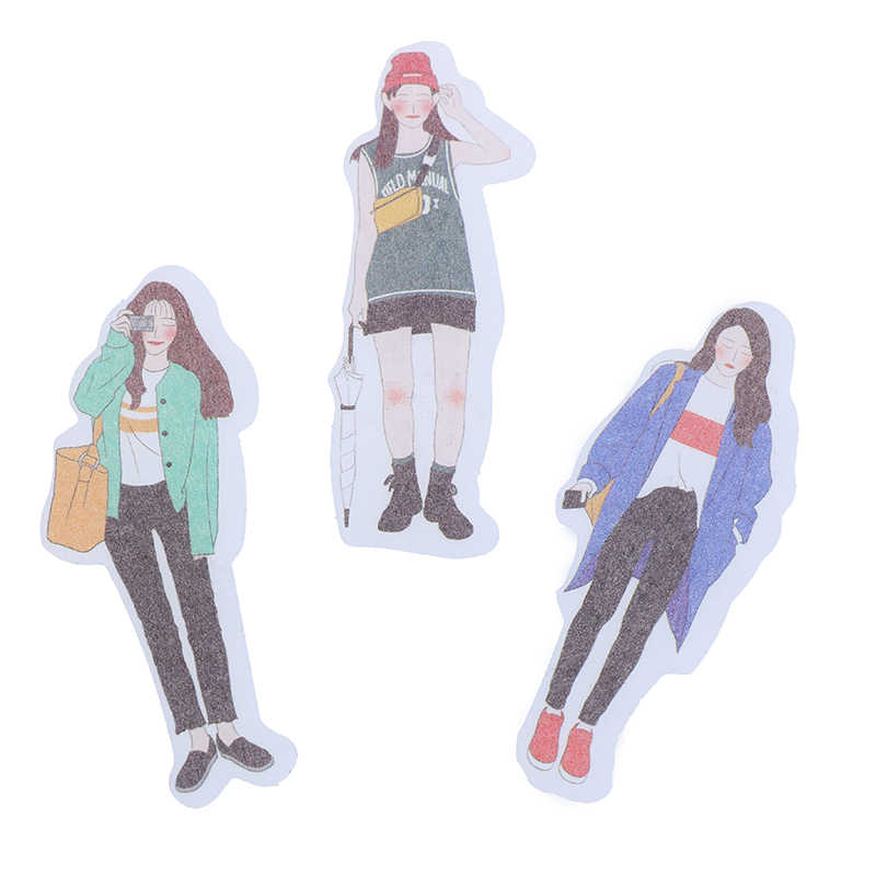 40pcs/pack Sealing Sticker Girl Stylish Character Series Decoration Diary Scrapbooking Index Phone Album