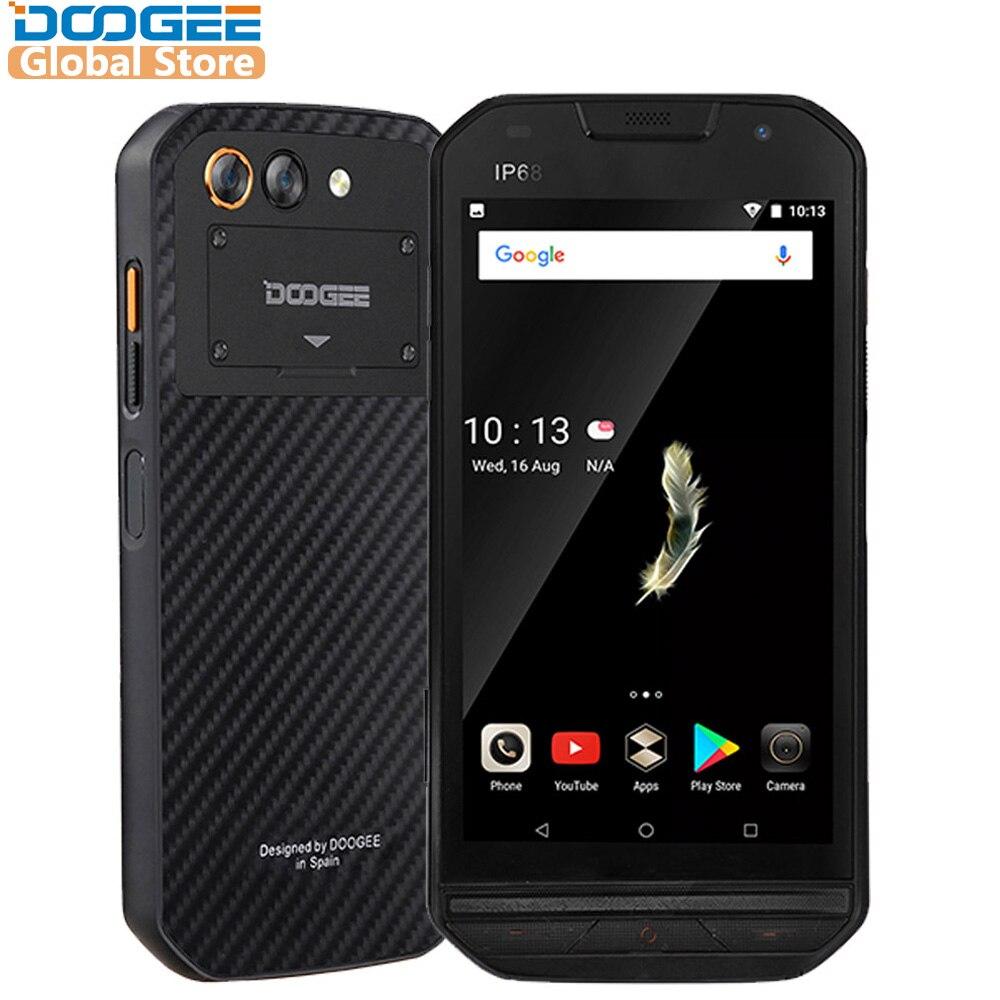 IP68 ebene DOOGEE S30 Smartphone Seite Fingerprint 2 gb 16 gb Dual Kamera 5580 mah 5 v/2A Schnell ladung 5,0