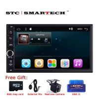 SMARTECH 2 Din Universal Quad Core Android 6 0 Quad Core Car Multimedia Audio Video Player