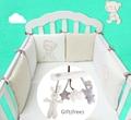 Cuna bebé Cama De Parachoques Protector Para Bebés Niños de Algodón Cuna Nursery bedding 6 unid felpa oso parachoques para niño y niña