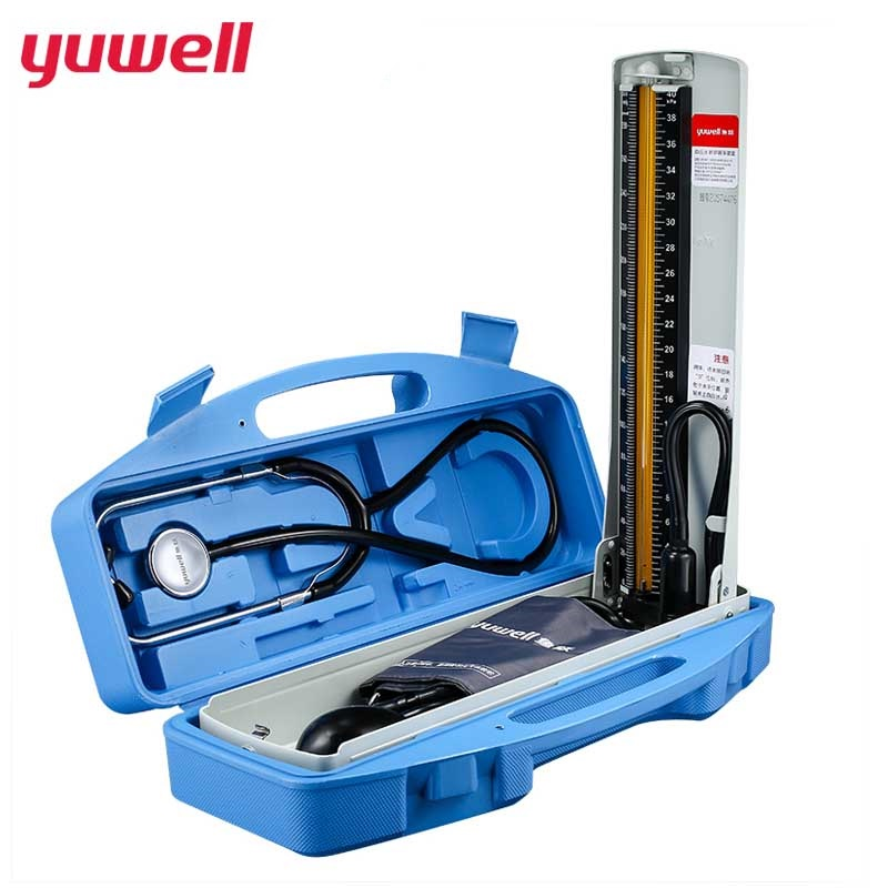 yuwell Mercury Sphygmomanometer and Stethoscope Home Health Blood Pressure Monitor Professional Medical Equipment Hospital полка навесная сканд мебель шервуд пш 03
