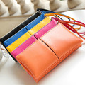 2016 Hot Fashion Women Wallets handbag solid PU Leather Long bag black Change clutch Lady brand Cash phone card coin Purse