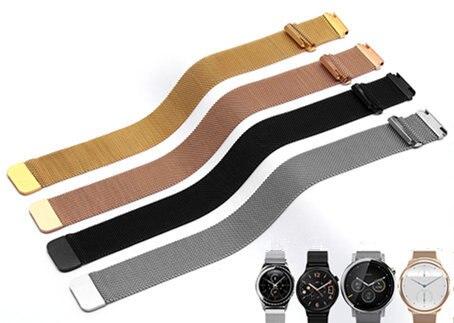 Prix pour 16 18 20 22mm Hommes Lady Argent Noir Or Rose Or maille Milanese Boucle En Acier Bracelet Montre-Bracelet de Courroie De Bande Ceinture Magnétique fin