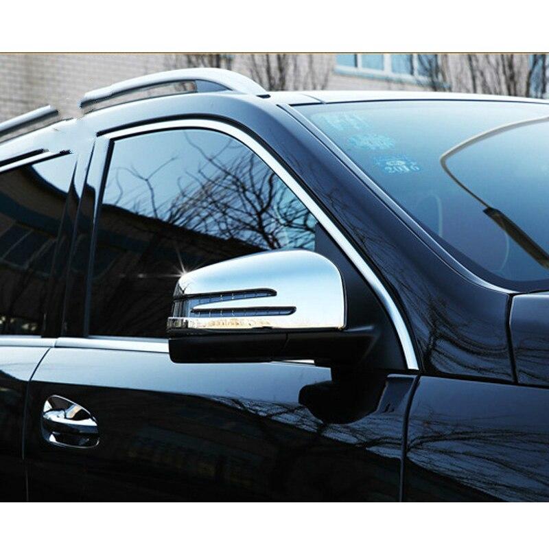 Couvercle de rétroviseur latéral de vue arrière de Chrome d'abs pour les accessoires de classe de Mercedes W166 C292 X166 GLE Wagon Coupe ML GL GLS
