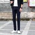 ДИ MOONLY Army Green 2017 Весна Лето Мужчины Плюс Размер Брюки Хлопчатобумажные Длинные Повседневные Брюки Мужские Прямые Формальные Мода Pantalones