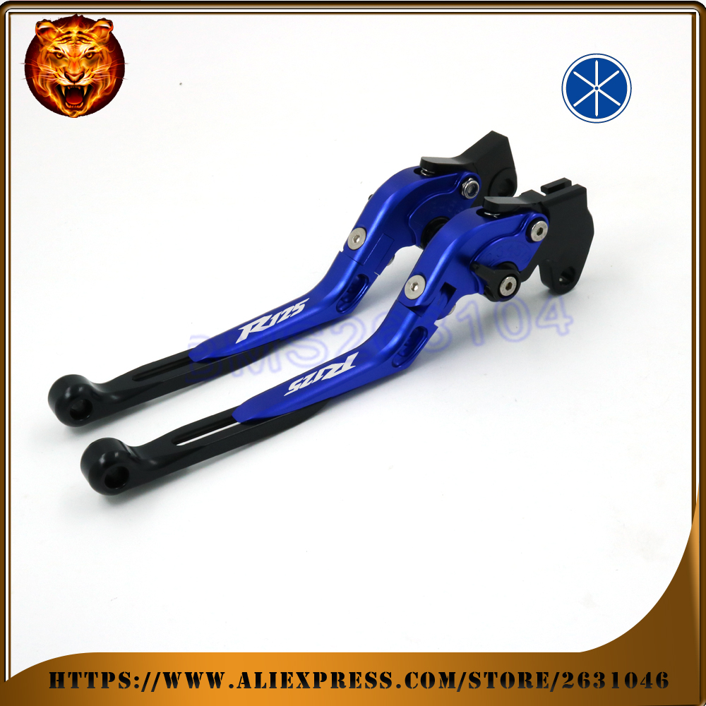 For YAMAHA YZFR125 YZF R125 2008-2011 BLUE BLACK RED FREE SHIPPING Motorcycle Adjustable Folding Extendable Brake Clutch Lever for yamaha yzfr6 yzf r6 2005 2016 black motorcycle adjustable folding extendable brake clutch lever logo r6