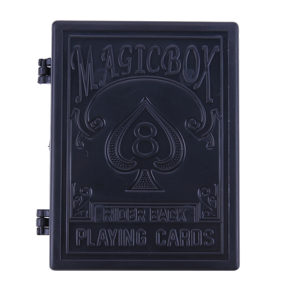 1pc Black Plastic Restore Box Broken Paper Card Case Close-up Magic Tricks Props Toys Magic Tricks