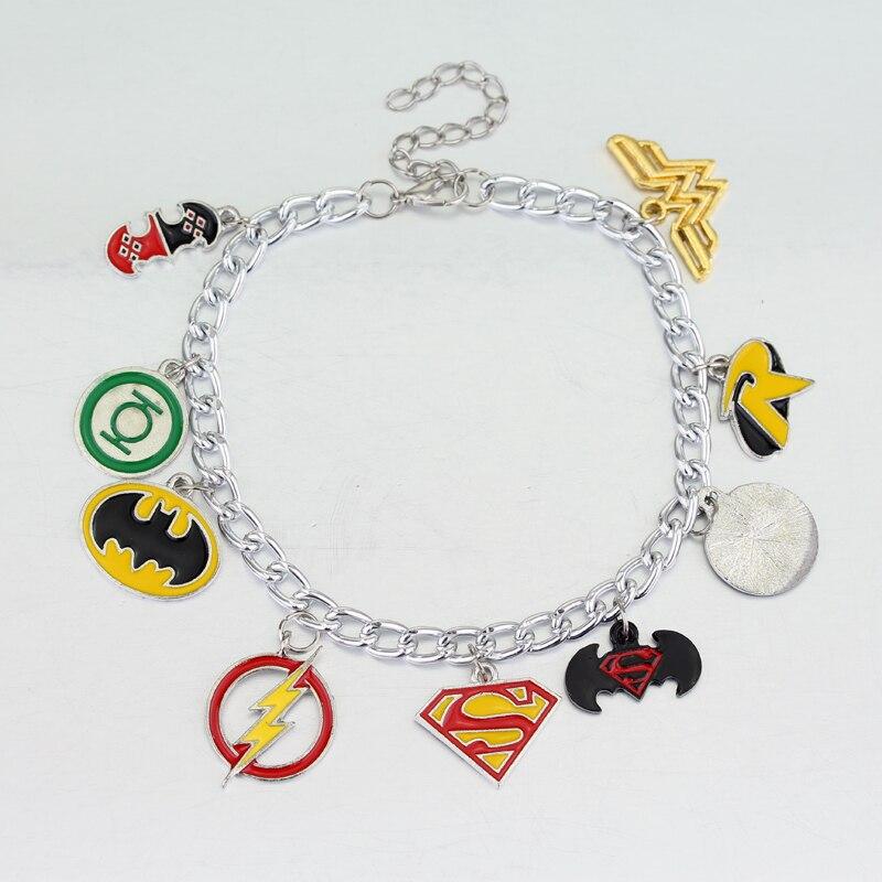 Новая мода фильм супергероя серии Wonder Woman вспышка Бэтмен Подвеска браслет женщины и мужчины ювелирные изделия магазин при фабрике