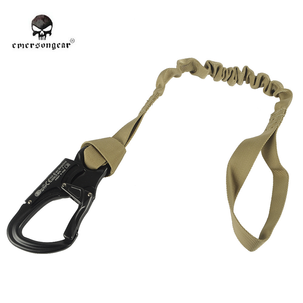 Emerson Safety Elastic Lanyard Strap Rope Quick Release Tactical Protective Sling Safety Line Climbing Rope For Outdoor Sports
