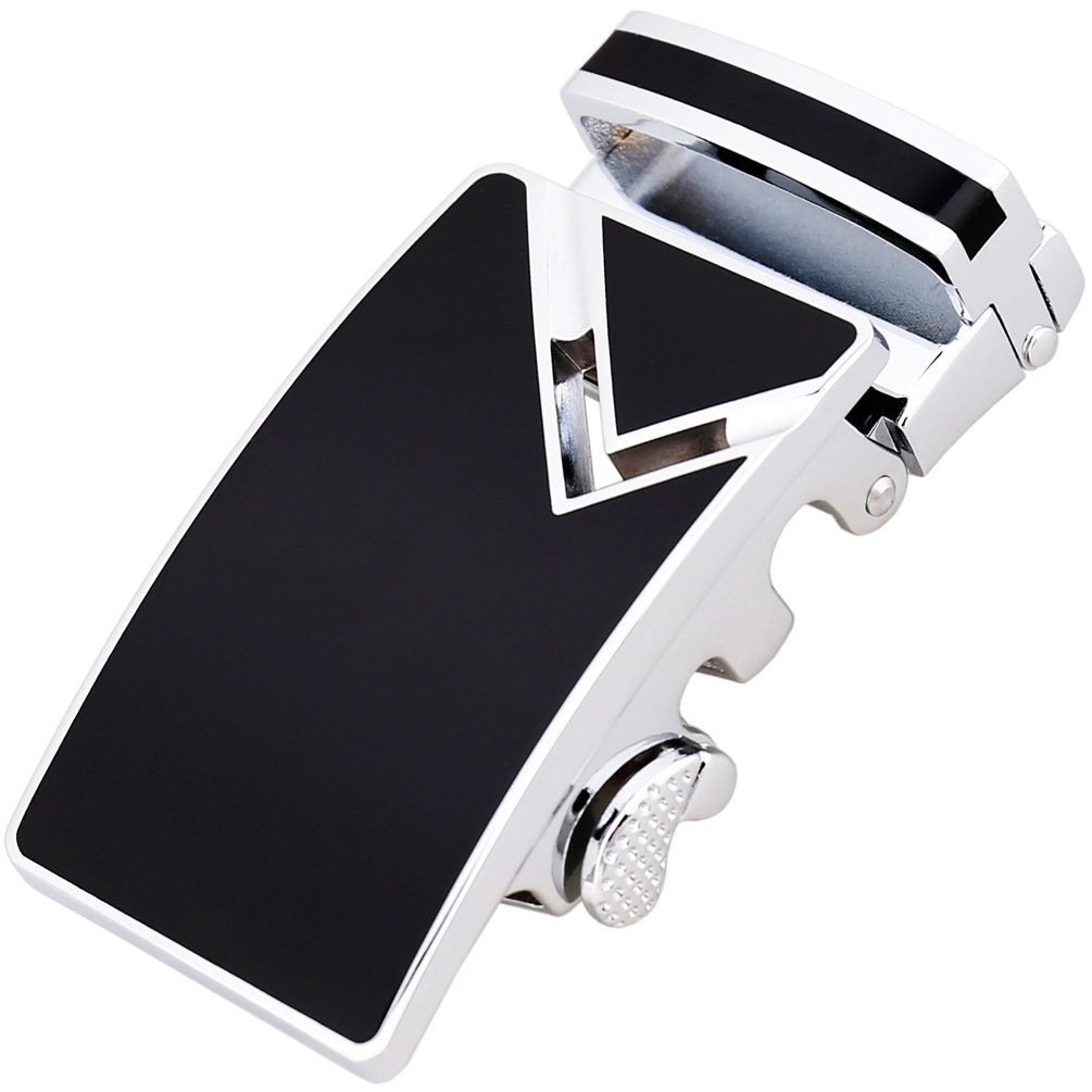 3.5cm Width Automatic Belts Buckle Genuine Leather Belt Men Automatic Buckle White Black Red Yellow Blue CE88362