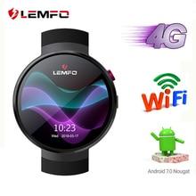 LEMFO LEM7 4G Android 7,1 Смарт часы для мужчин 1 ГБ + ГБ 16 2MP камера gps Wi Fi 580 мАч Большой Батарея дюймов 1,39 дюймов AMOLED экран Smartwatch