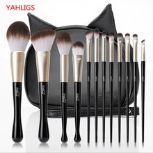купить MSQ 12PCS/SET  Women Facial Makeup Brushes Set Face Cosmetic Beauty Eye Shadow Foundation Blush Brush Make Up Brush Tool YA279 дешево