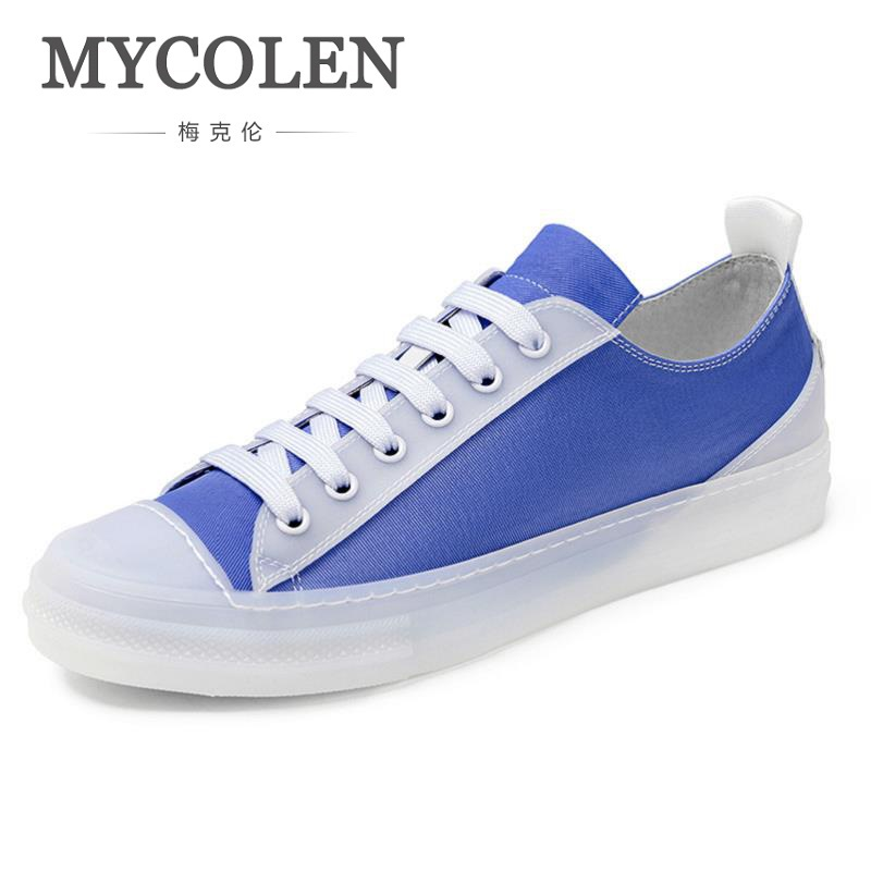 MYCOLEN Hot Sale Canvas Shoes Men Breathable Casual Shoes Comfort Round Toe Lace-Up Flat Wear-Resistant Men Shoes Calzado цены