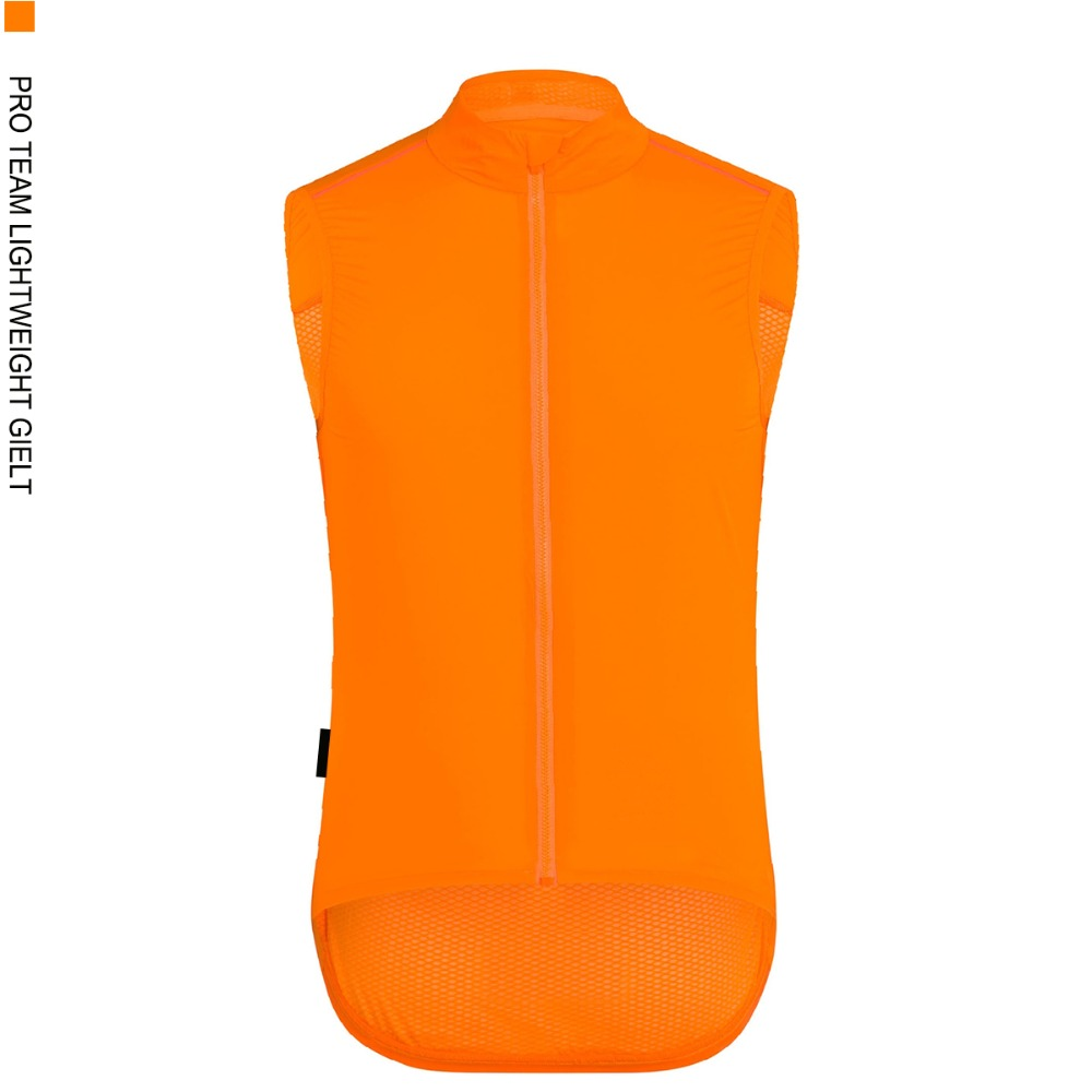 SPEXCEL Top quality PRO TEAM fluor Orange windproof cycling GILET men or women cycling Windbreak vest wind jacket