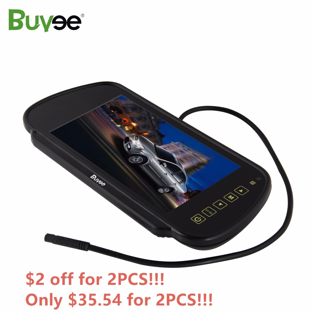 Buyee 7 Inch TFT LCD HD CAR MIRROR MONITOR Rearview Display For Parking Reverse Rear View Camera Auto Monitor Touch Screen 2 AVs
