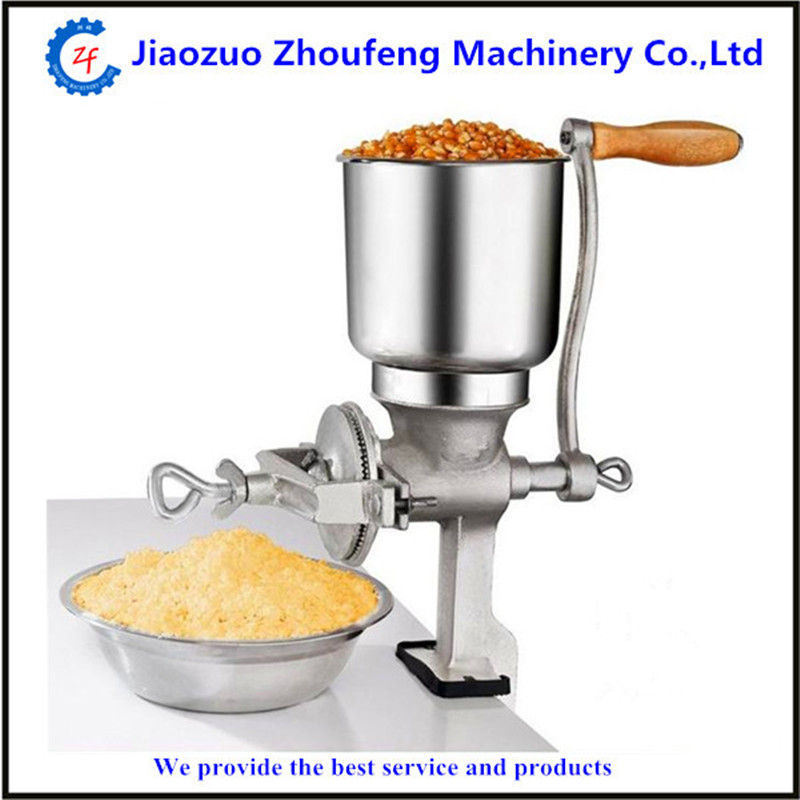 Corn mill machine manual maize wheat rice beans coffee cocoa bean pepper grinding crushing machine   ZF multifunction corn flour mill machine home use manual maize rice soybean peanut coffee cocoa beans grain grinder