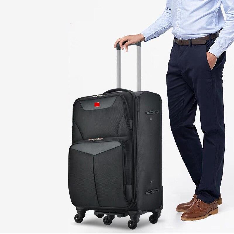 Hell Business 20/24/28 Größe Roll Gepäck Tasche Mit 5 Räder Männer Hohe Kapazität Reise Koffer Frauen Hohe Qualität Trolley Reisetasche