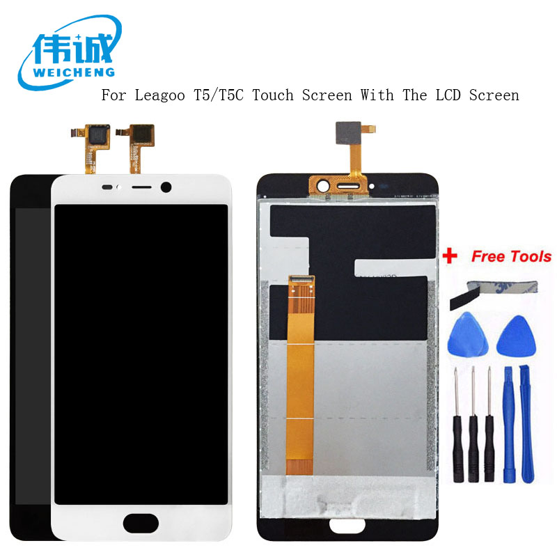 WEICHENG Tested Well For LEAGOO T5 LCD Display + Touch Screen Digitizer Assembly Panel Digital Replacemen T5C T 5+Free ToolWEICHENG Tested Well For LEAGOO T5 LCD Display + Touch Screen Digitizer Assembly Panel Digital Replacemen T5C T 5+Free Tool