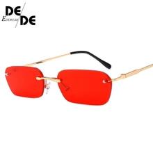 2019 Rimless Metal Sunglasses Men Women Fashion Brand Sunglass Retro Vintage Designer Square Black Glasses Oculos UV400