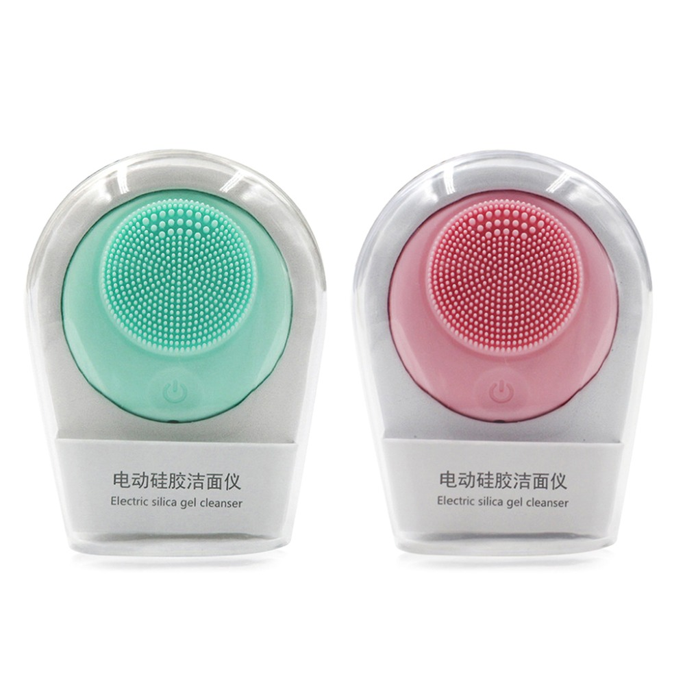 Electric Face Washing Machine Silicone Facial Cleanser Ultrasonic Vibration Cleansing BrushElectric Face Washing Machine Silicone Facial Cleanser Ultrasonic Vibration Cleansing Brush
