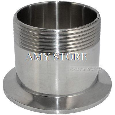 2 DN50 Sanitary Male BSP Threaded Pipe Fitting to TRI CLAMP (OD 77.5mm) Ferrule SS304 1pc stainless steel ss304 male x male threaded pipe fitting 200mm bsp 1 4 1 2 3 4 1