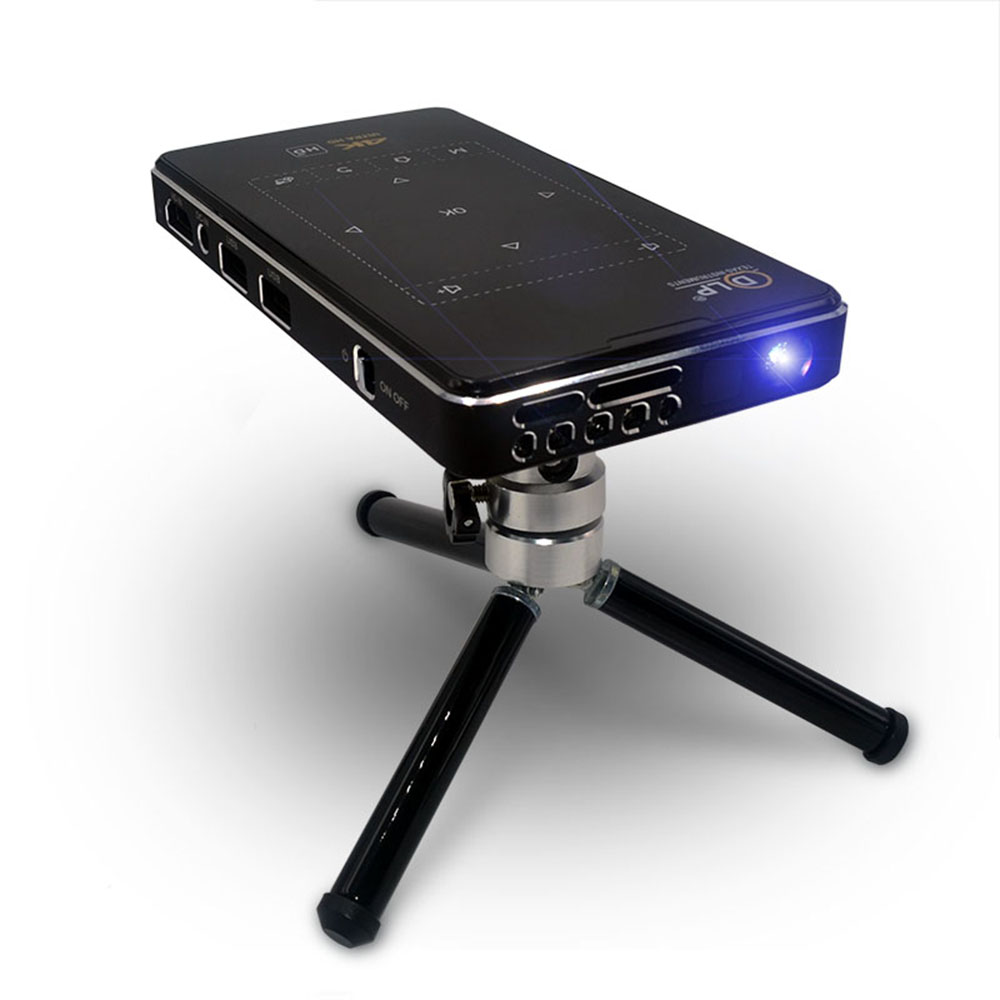 2019 Mini przenośny projektor dlp 4K 100 ANSI lumenów Android 6.0 Amlogic S905X led full hd rzutnik Beamer do kina domowego