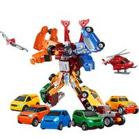 7 in 1 Transformation Robot Deformations Car Robot Model Toys Car Integration Anime Robot