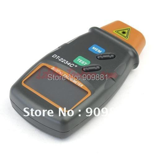 Digital Laser Tachometer Non Contact Electronic Photo Tachometers 2.5-100000 RPM Tach Meter DT-2234C+With Reflecting Tape Marks
