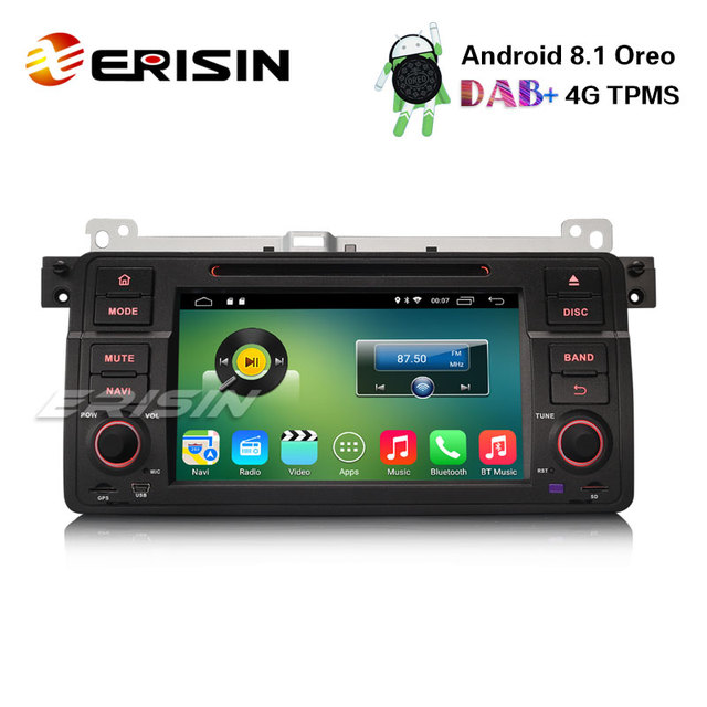 US $279 0 |Erisin ES3346B 1 Din 7 inch Car DVD Player Android 8 1 Car  Stereo GPS Satnav DAB+ 4G for BMW E46-in Car Multimedia Player from  Automobiles