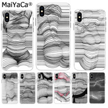 MaiYaCa Simple line body painting Soft TPU silicone On Sale Phone Case for iPhone 8 7 6 6S Plus X XS max 5 5S SE XR(China)