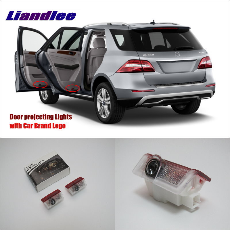 Liandlee Car LED Courtesy Welcome Lights For Mercedes Benz ML W166 GLA GL GL350 450 500 63 2014 Projector Light Of Car Door Lamp Mercedes-Benz A-класс