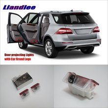Liandlee Car LED Courtesy Welcome Lights For Mercedes Benz ML W166 GLA GL GL350 450 500 63 2014 Projector Light Of Door Lamp