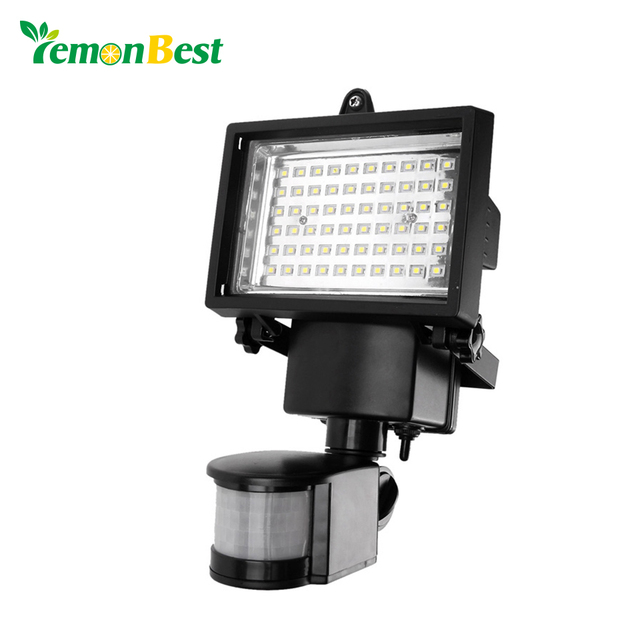 Us 39 99 Motion Sensor Led Solar Garden Light 60 Leds Outdoor Lighting Pir Body Panel Lamp For Square Highway Wall In