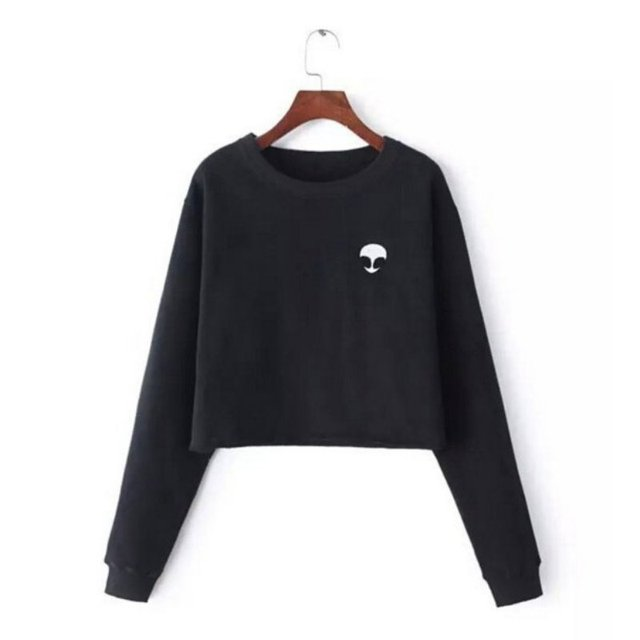ETOSELL Spring Autumn New Fashion T Shirt Women Long Sleeve O-Neck Casual  Tops Alien