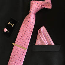 SHENNAIWEI luxury silk tie set with cufflinks and handkerchief