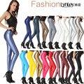 2016 Fashion Women Leggings Gothic Sexy Leggins Punk Legging Feminina Leather Elastic Leggins Harajuku Pants Clothing Ropa Mujer