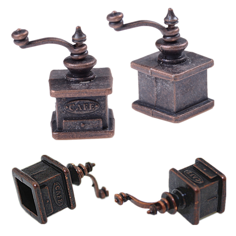 1/12 Dollhouse Miniature Kitchen Vintage Coffee Grinder For Doll Gift
