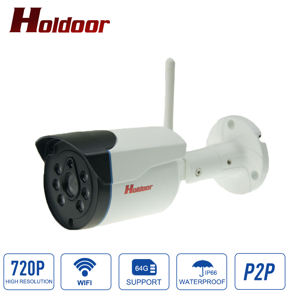 H.264 720P Waterproof Outdoor Security Wifi Camera Bullet IP Cameras with Night Vision Motion Detection support Micro SD Card bullet camera tube camera headset holder with varied size in diameter