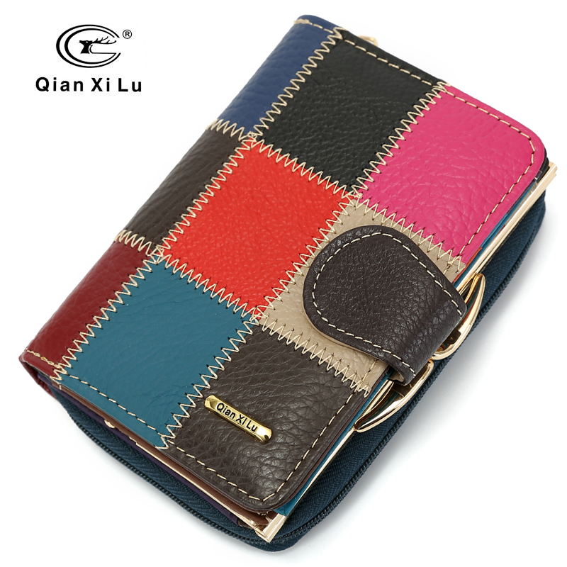 Cow Leather Women Purse Small Casual Wallets Luxury Brand Lady Coin Pocket Money Bag Wallet Female Purses Carteira Feminina
