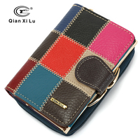 Cow Leather Women Purse Small Casual Wallets Luxury Brand Lady Coin Pocket Money Bag Wallet Female
