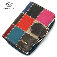 Petit sac à main en cuir de vache pour femmes portefeuilles occasionnels, marque de luxe, poche à argent, portefeuille, portefeuille