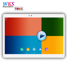 Waywalkers T805C 10.1 inch Tablets MTK6592 Android 7.0 octa Core IPS 1920×1200 Dual SIM Card WIFI 2.4G/5G FM Bluetooth Tablet PC