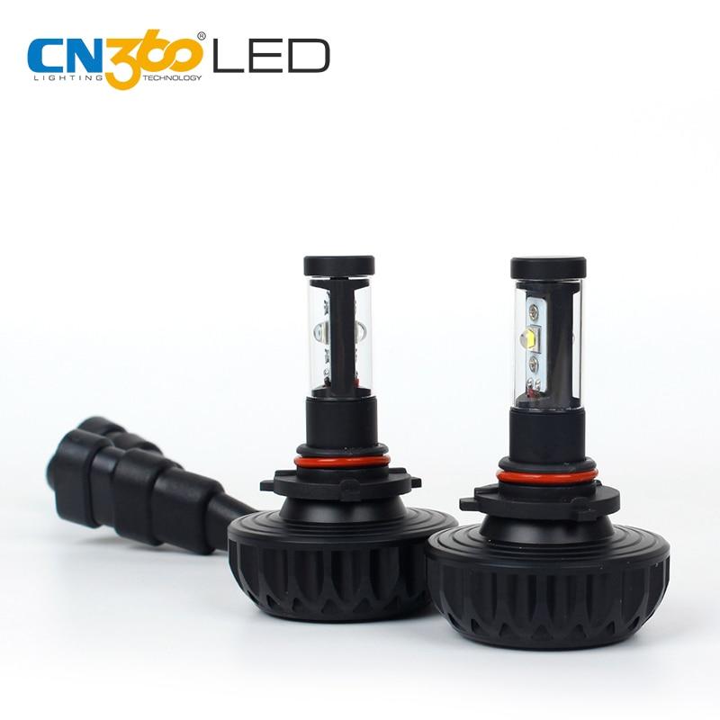 CN360 2PCS 9005 HB3 CREE LED chips Car Headlight Kit Fog Light Lamp With 5 Optional Colors Plug&Play